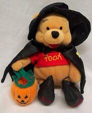 "Disney HALLOWEEN WINNIE THE POOH BEAR AS WITCH 8"" Bean Bag STUFFED ANIMAL Toy"