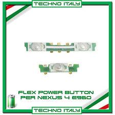 FLAT FLEX CAVO TASTO ACCENSIONE POWER BUTTON ON/OFF E VOLUME PER LG NEXUS 4 E960