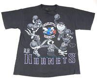 NBA Charlotte Hornets Vintage 1994 Tshirt Sz Large Single Stitch Looney Tunes