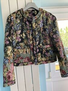Tapestry Floral Jacket Smart/Business/Casual Size 10