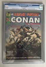 Savage Sword Of Conan 1 CGC 9.2 Marvel