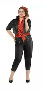 NEW Adult Female Themed Rockin' Rebel Costume - Plus Size 18-20 50s Size 18-20