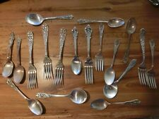 New ListingOrnate lot of assorted solid sterling forks and spoons. 717 grams