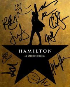 Hamilton Alexander Hamilton Lin-Manuel Miranda Broadway Musical Cast Signed Gift