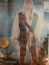 Pirates Of The Caribbean Captain Jack Sparrow  Halloween Costume #789