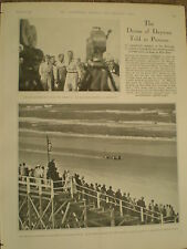 Photo article Malcolm Campbell new speed record Blue Bird Daytona 1932 ref Y2