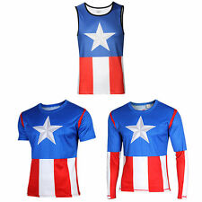 Marvel Superhero Costume Men Compression T-shirt Sports Jersey Fitness Shirt Tee