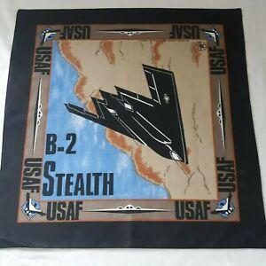 USAF United States Air Force Bandana NOS Stealth Bomber Head Wrap Scarf Do Rag
