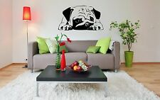 Pug Dog Puppy Breed Pet Animal Family Wall Sticker Decal Mural 2863