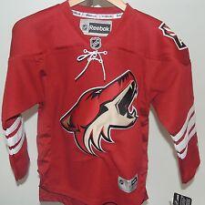 NHL REEBOK Premier Arizona Coyotes Home Hockey Jersey New Youth L/XL MSRP $80
