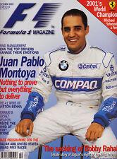 Formula 1 Magazine Oct 2001 - Juan Pablo Montoya, Ken Tyrrell, Senna's 41 Wins