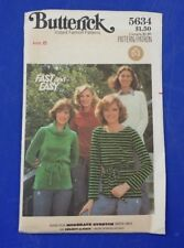 VINTAGE BUTTERICK LADIES COWL NECK BLOUSE PATTERN 5634 SIZE 8 FREE SHIPPING