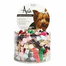 New listing Aria Tiny Bows with Rosettes for Dogs, 100-Piece Canisters