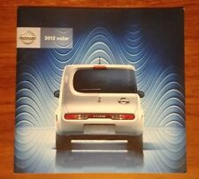 NISSAN CUBE BROCHURE 2012 COLLECTIBLE ADVERTISING