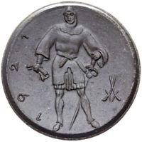 Lippstadt - Münze - 50 Pfennig 1921 - Ritter - Meissen - Porzellan schwarz