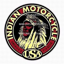 Vintage INDIAN Motorcycle USA Vinyl Decal Sticker