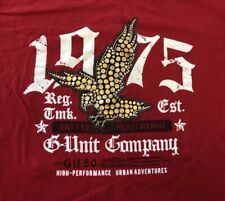 VTG 🔥G UNIT Company Tools Of The Trade XL Red T-Shirt Eagle 1975 Heavyweight
