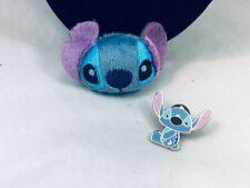 Stitch Enamel Fabric Brooch/Pin Cute Lot Of 2 Disney