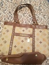 Brown and beige Baby Phat tote bag