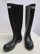 Hunter boots Black Tall rubber Original wellingtons matte size 6, EU 37 rain GUC