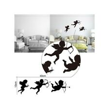 Personalized Cupid Angel Wall Stickers Living Room Nursery Bedroom Decor