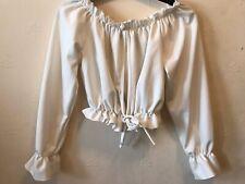 Stylewise Cream Ruffle Cropped Bardot Top. Size UK 8