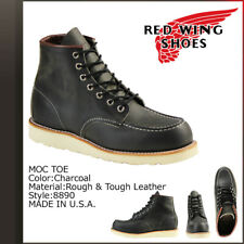 Red Wing 8890 Heritage Men's 6-Inch Moc-Toe Boot(Charcoal Rough & Tough Leather)