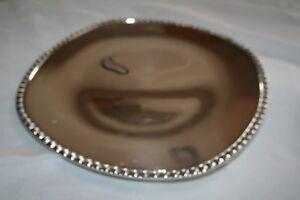 "Vintage.Fine Silver Wm ROGERS Castle ENPS 7921 12"" Serving Tray Platter MCM"