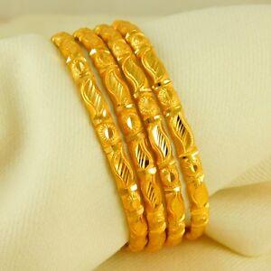 18K Indian Traditional Women Bangle Goldplated Bracelets Wedding Fashion Jewelry