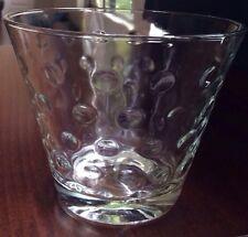 Retro Vintage Hazel Atlas Clear Dots Ice Bucket/Bowl No Chips No Cracks