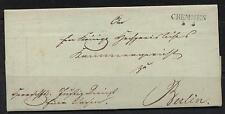 Brief mit Inhalt 1833 Cremmen - Berlin #l563
