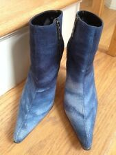 CLAUDIA CIUTI BOOTS , Size: 7.5 M Color Blue Made in ITALY