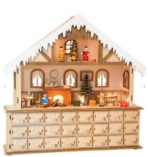 Nuevo De Madera De Navidad Adviento Calendario 24 Cajones escena Casa de Luces 10546