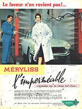 PUBLICITE ADVERTISING 124  1959  MERYL  vetements de pluie imerméables  MERYLISS