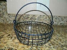 Black WIRE Egg Basket  with handle