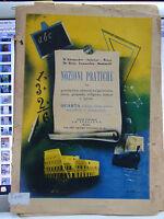"""LIBRO SUSSIDIARIO """"NOZIONI PRATICHE"""" PER LA CLASSE 4^ ANNO 1949"""