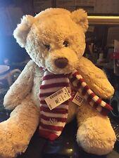 "Aeropostale Holiday Bear,matching scarf and hat Plush 12"" CUDDLYStuffed Animal-"