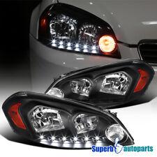 For 2006 2013 Chevy Impala 2006 2007 Monte Carlo Black Headlight Led Strip Lamps Fits 2006 Impala