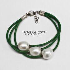 fc1ce7ce6d08 Pulseras de joyería verde de plata de ley