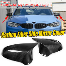 FOR BMW F80 M3 F82 M4 2015-2019 REAL Carbon Fiber Side View Mirror Cover