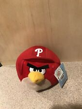 "Angry Birds Philadelphia Phillies MLB 5"" Plush Stuffed Animal Doll, New With Tag"