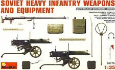 MINIART soviet heavy infantry weapons Equipment 1:35 infanterie équipement Guns