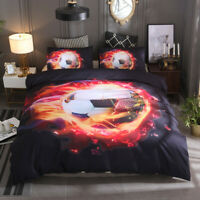 3D Football Soccer Quilt Duvet Cover Set Comforter Cover Set Kids Bedding Set