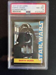 1977 Wonder Bread Star Wars #5 DARTH VADER PSA 8 NM-MT Vader Rookie Card