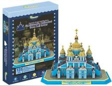 3D puzzle paper Ukraine Buliding model St. Michael's Cathedral from bell tower