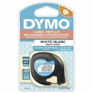 DYMO 91331 Labeler Plastic Tape 12mm x 4M - White