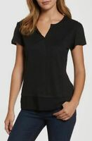 $110 Sanctuary Women's Black V-Neck Short-Sleeve Casual T-Shirt Size M
