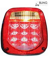 LED UNIVERSAL STUD-MOUNT TRUCK TRAILER TAIL LIGHT w/ license illuminator clear