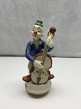 Ceramic Music Box Clown With Bass Vintage Melody Musical KG