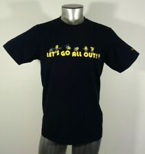 Despicable Me Minion Made let's go all out Uni Glo men's t-shirt blue M new